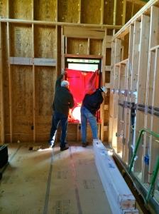 blower door test, passive house